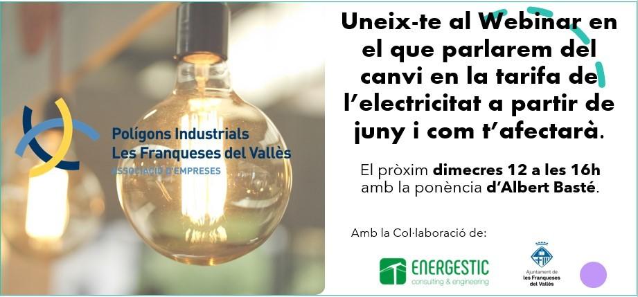 Webinar Canvi Tarifa Electricitat